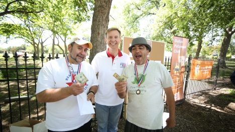 Third place.From left to right Jacques,Nicolas,Thierry