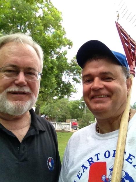 Larry Roselle on left.