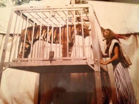 Arsene's magic show around 1983 with Doc's tiger.