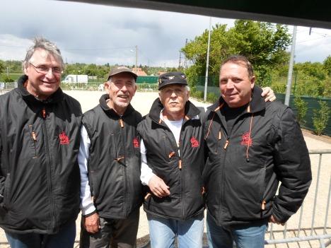 From left to right:Christian Pannetier,Michel, Jo Sanchez, Manuel Antunes