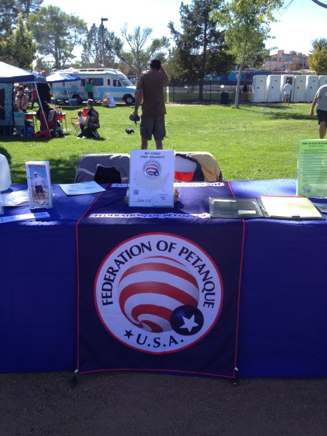 The FPUSA's table.