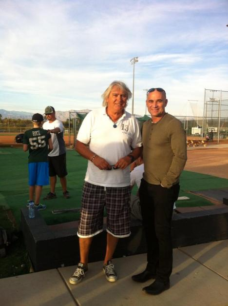 Marco got to to meet another legend Andre Agassi.