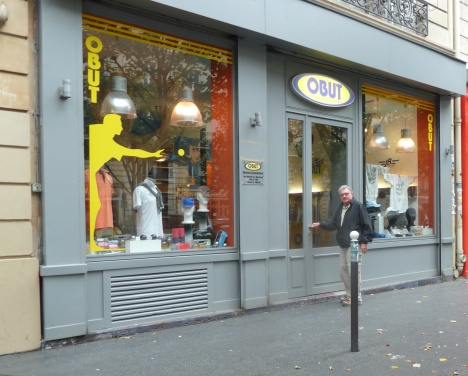 Ed Priest at the Obut shop in Paris.