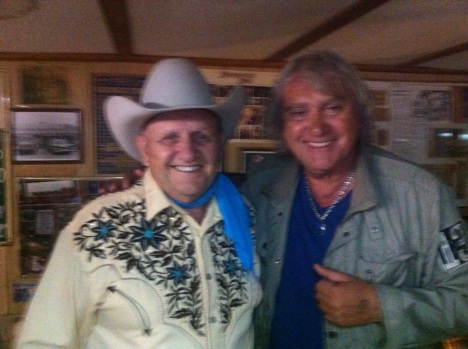 Marco with James White the owner of the Broken Spoke