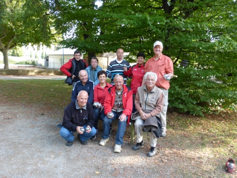 Great group of local resident of Millau, France