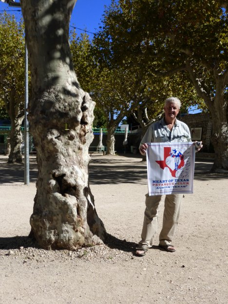 The heart of Texas Petanque Club in la Ciotat