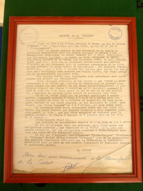 Original document of the creation of the game  Pieds Tanques