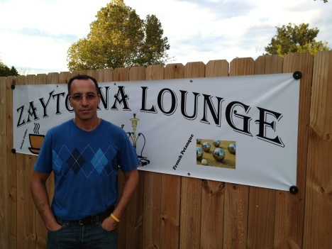 The owner of Zaytouna Lounge Amine Najah.