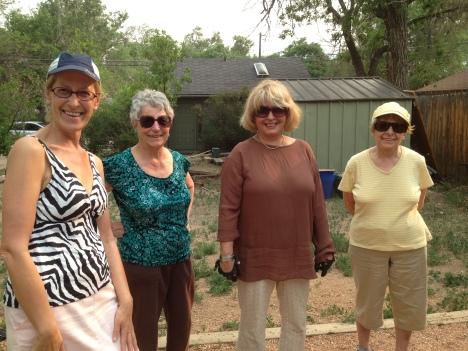 Les Femmes Française du Club de Petanque du Colorado Springs.