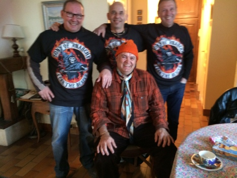 My friends of over 42 years.! From left to right Loulou, Rudy, Dede.